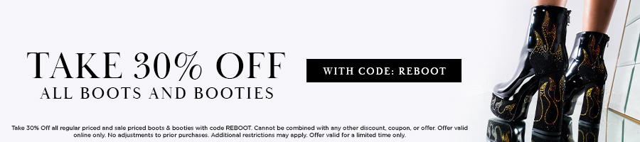 Take 30% Off All Boots and Booties with code REBOOT.