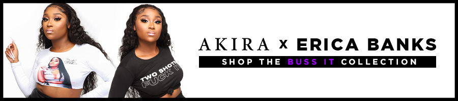 Shop the new AKIRA X ERICA BANKS Collection.
