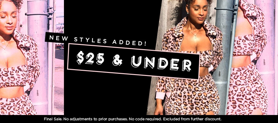 Shop $25 & Under.