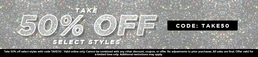 Take 50% Off Select Dresses & Accessories with code TAKE50.