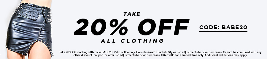Take 20% Off Clothing with code BABE20.