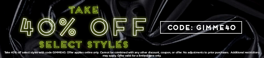 Take 40% Off Select Styles with code GIMME40.