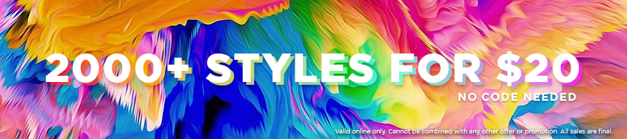 2000+ styles for $20! No code needed.