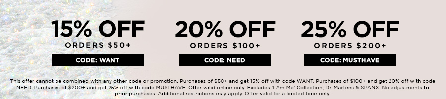 Up to 25% Off Sitewide with code MUSTHAVE.