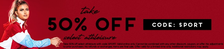 Take 50% Off Select Athleisure with code SPORT.
