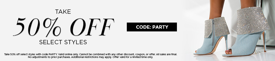 Take 50% Off Select Styles with code PARTY.