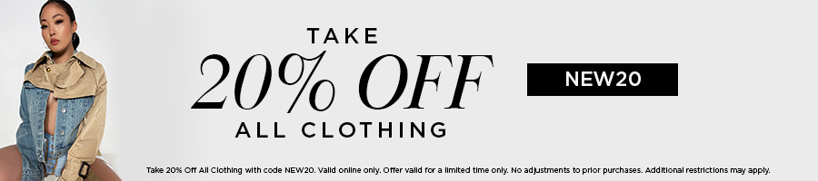 Take 20% Off Clothing with code NEW20.