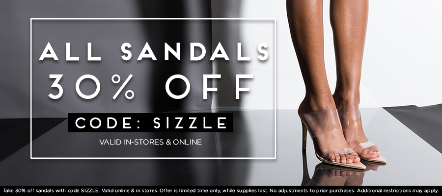 30% Off All Sandals