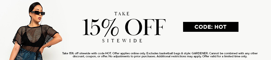 Take 15% Off Sitewide with code HOT. Some exclusions appy. Valid online only.