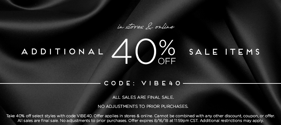Additional 40% Off Sale Items