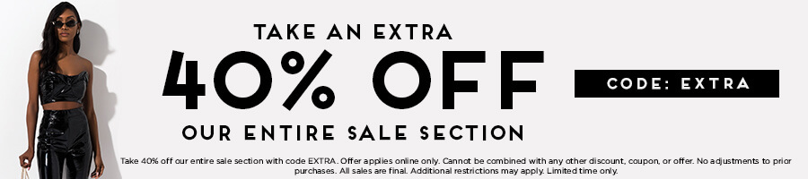 Take an extra 40% Off our entire sale section with code EXTRA.