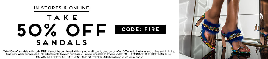 Take 50% Off Sandals with code FIRE.