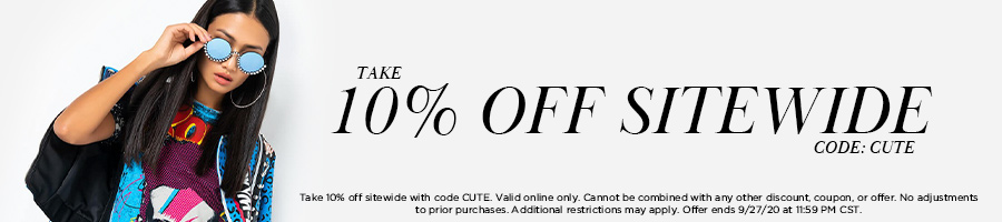 Take 10% Off Sitewide with code CUTE.