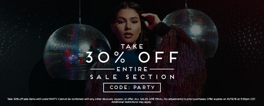 30% Off Entire Sale Section