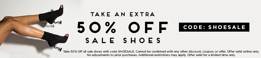 Take an extra 50% Off Sale Shoes with code SHOESALE.