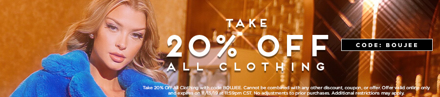 Take 20% Off All Clothing with code BOUJEE.