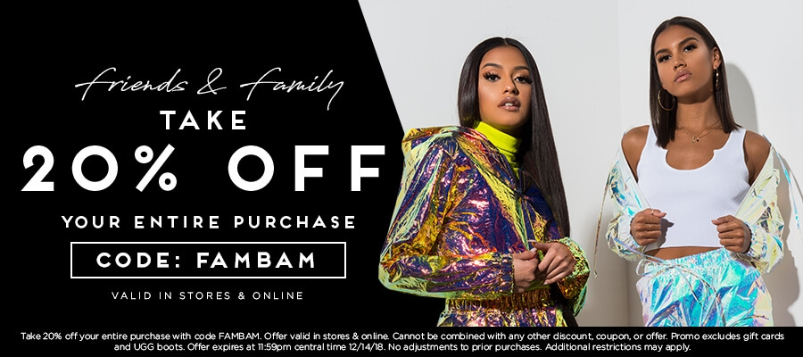 Take 20% Off Your Entire Purchase with Code FAMBAM.