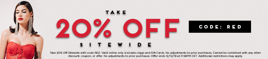 Take 20% Off Sitewide with code RED.