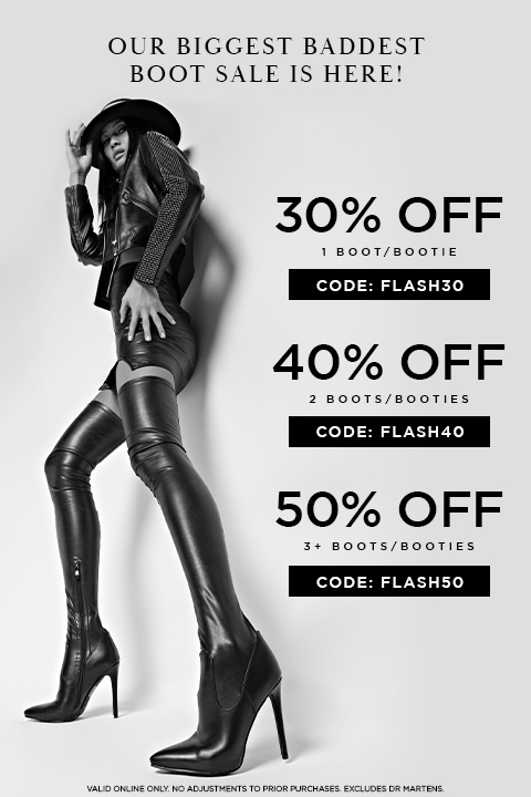 Up to 50% Off Boots & Booties with code FLASH50.